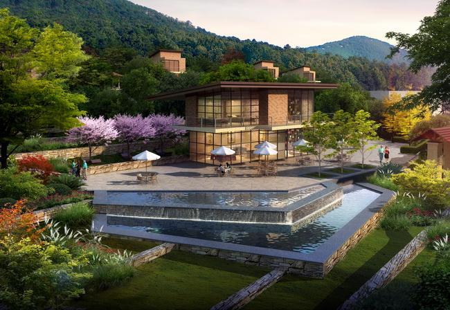 上海铁路局太湖疗养院景观设计图片